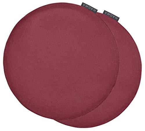 Magma-Heimtex avaro Sedia Cuscino feltro imitazione set 2'rotondo Ø ca. 35cm (Vinaccia).