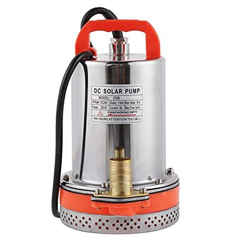Bomba Sumergible de 12 V/24 V, Bomba de Agua portátil, Dispositivo de Limpieza de Piscina elástica de Metal para Tubo de Estanque, sótanos inundados de jardín(24V)