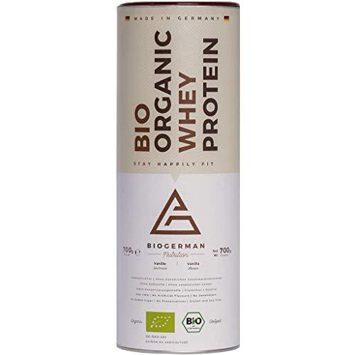 Naturaltein Bio Whey Protein Pulver Eiweißpulver Muskelaufbau I Premium Organic Protein Powder Ohne Zusatzstoffe I hochwertiges Eiweiß Pulver ohne Gentechnik I natürlicher Geschmack (Vanille) I 700g