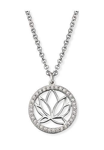Engelsrufer ERN-LOTUS-ZI Damen Collier Lotusblume Silber weiß Zirkonia 44 cm