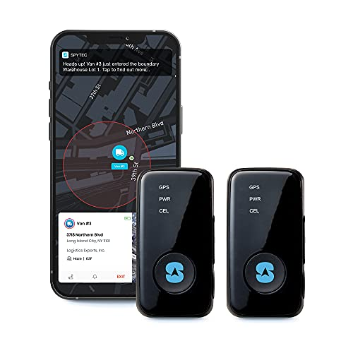 Spytec GPS GL300 GPS Tracker for Vehicles Cars Trucks Equipment Mini GPS Tracking Device for Kids Use with App and Track in Real-Time - Pack of 2