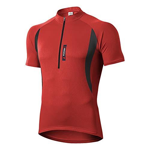 MEETWEE Herren Radtrikot Fahrradtrikot Kurzarm, Fahrradbekleidung Fahrrad Trikot T Shirt für Männer, Atmungsaktive Cycling Jersey Schnell Trocknen Radsport Bekleidung