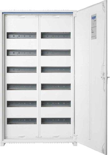 Hager Serie FWB–Box Verteilung Oberfläche 2Abschnitt 6Reihen 144Module ausgestattet