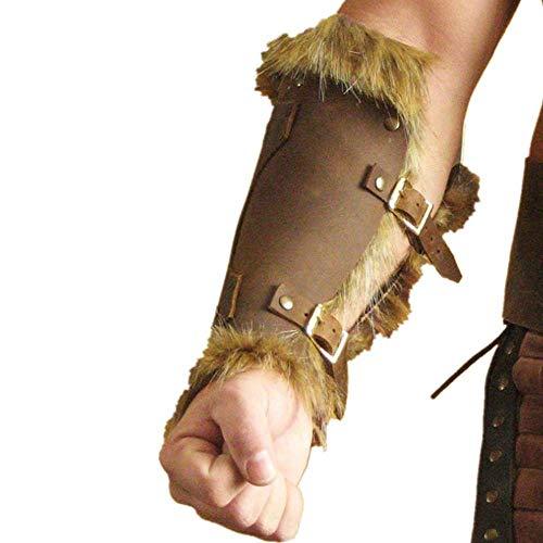1 Par De Protectores De Brazo De Tiro con Arco, Pulsera De Guantelete Medieval Renacentista, Brazalete Retro De Guerrero para Hombres Y Mujeres para Cosplay De Tiro De Caza