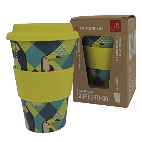 ebos Coffee-to-Go Becher aus Bambus – melaminfrei |...