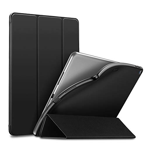 ESR Rebound Slim Smart Case Specially Designed for iPad Air 3 10.5' 2019, Flexible TPU Back Cover with Rubberized Coating, Auto Sleep/Wake and Viewing/Typing Stand for iPad Air (3rd Gen) 2019, Black