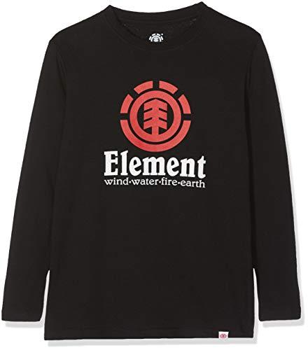 Element Vertical LS Tops de Manga Larga, Niños, Negro (Flint Black), 8