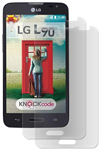 ENERGMiX Displayfolie kompatibel mit LG L90 (D405) Schutz Folie Folien (2 Stück) - Ultra Clear