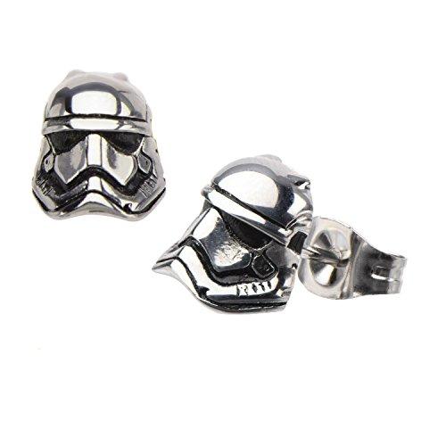 Star Wars VII: The Force Awakens Storm Trooper Stainless Steel Stud Earrings