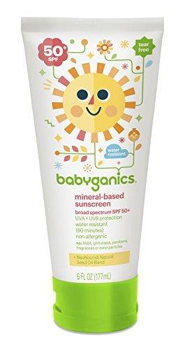 Babyganics 50 Spf Sunscreen Lotion, 6 oz