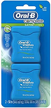 6-Count (3 x 2-Pack) Oral-B Complete SatinFloss Dental Floss Mint