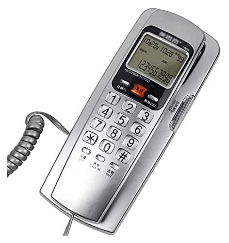 LBBZJM Teléfono con Cable Teléfono Teléfono Montado en la Pared Teléfono Línea Inicio Teléfono Cableado Teléfono Fijo Fashion Creative Small Extensión Teléfono Rotary, Estudio, Hotel (Color : A)