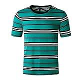 SSBZYES Camiseta para Hombre Camiseta a Rayas para Hombre Verano Nuevo Código Europeo Cuello Redondo para Hombre Camiseta De Manga Corta a Rayas Hipster Camiseta Fina Y Suelta para Hombre