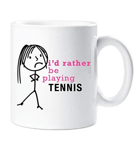 60 Tweede Makeover® Dames Ik zou liever spelen Tennis Mok Vriend Cup Moeder Dochter Gift