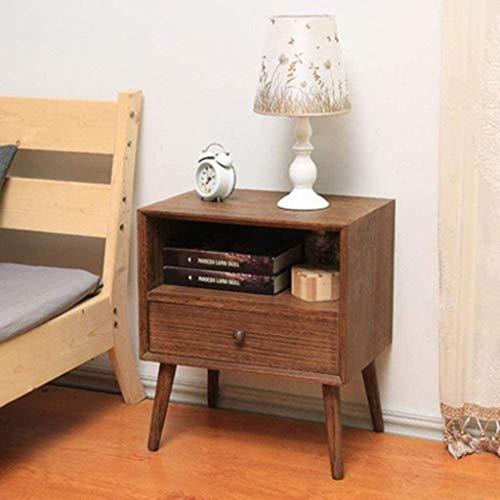 File cabinets Nachttisch aus Massivholz, robust und langlebig, für Schlafzimmer, Wohnzimmer, praktischer Beistelltisch (Farbe: C)