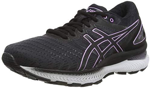 Asics Gel-Nimbus 22, Zapatos para Correr Mujer, Black/Lilac Tech, 40 EU