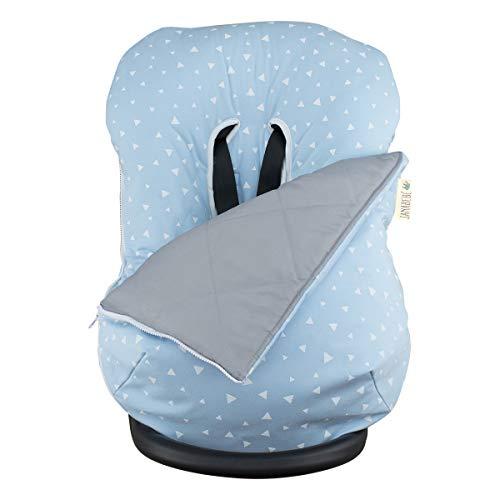 JANABEBE Funda + Saco para silla de coche grupo 0 Blue Sparkles