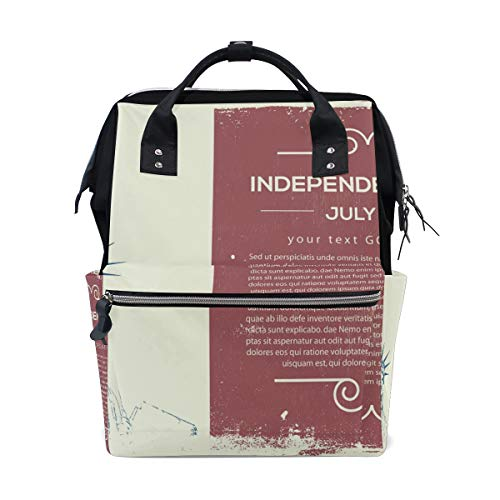 MONTOJ Independence Day Canvas Rucksack Travel Campus