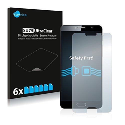 Savvies 6X Schutzfolie kompatibel mit Alcatel Flash Plus 2 Bildschirmschutz-Folie Ultra-transparent