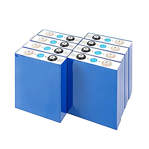 QMRePow 3.2V 90ah Lifepo4 Battery for Solar System/Motorhome RV/Boat/Golf Cart Electric/E-Bike/DIY Car Battery Lithium Iron Phosphate Battery (Color : 8PCS)