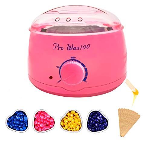 Calentador depilatorio Cera caliente 4*bolsas cera perla kit de calentador de cera...