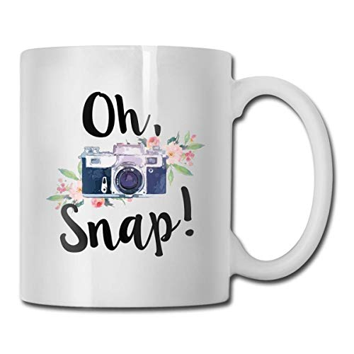 Oh Snap Funny Coffee Mug 11 OZ Ceramic Coffee Cup Unique Christmas Birthday Gifts Idea for Friends Dad Mom