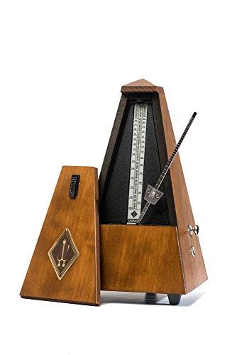 Wittner Taktell Pyramidenform Metronom Holzgehäuse mit Glocke Nußbraun-matt