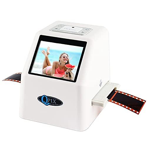 Film Negative Scanner 22 MP 110 135 126KPK Super 8 Negative Photo Scanner 35mm Slide Film Scanner Digital Film Converter High Resolution 22MP 2.4' LCD(White)