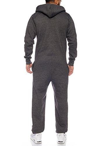 Rock Creek Herren Overall Jumpsuite Onesie Jogger Trainingsanzug [Anthrazit ] - 3