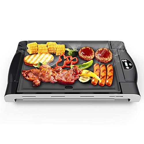 1200w éLectrique Barbecue Gril Teppanyaki Plaque Dessus De La Table Plat Chaud DéTachable pour BBQ IntéRieur Jardin ContrôLe De La TempéRature 3-5 Personnes