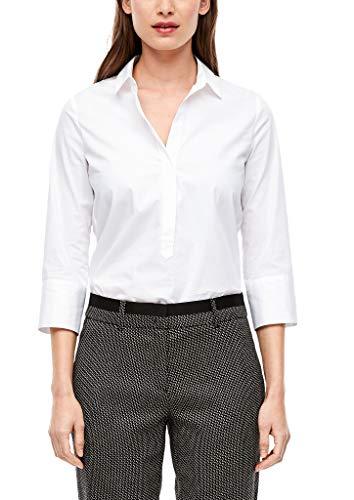 s.Oliver BLACK LABEL Damen 150.10.008.10.100.2053359 Bluse, Pure White, 44