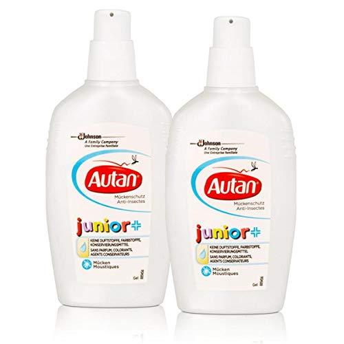 Autan Mückenschutz junior Gel 100ml - keine Duftstoffe, Farbstoffe, Konservierungsmittel (2er Pack)