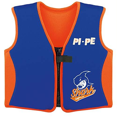 PI-PE Schwimmweste Kinder - Swimmen Lernen mit Einem sicheren Gefühl - Schwimmhilfe für Auftrieb angenehmes Neopren - schnell trocknend orange/Blue 2-3 Jahre