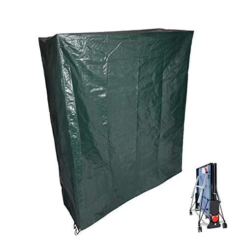 Laneetal Schutzhaube Tischtennisplatte Schutzhülle Gartenmöbel PE Abdeckplane Bankabdeckung 182x160x55cm Grün