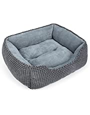 MIXJOY Dog Bed for Large Medium Small Dogs, Rectangle Washable Sleeping Puppy Bed, Orthopedic Pet Sofa Bed, Soft Calming Cat Beds for Indoor Cats, Anti-Slip Bottom with Multiple Size
