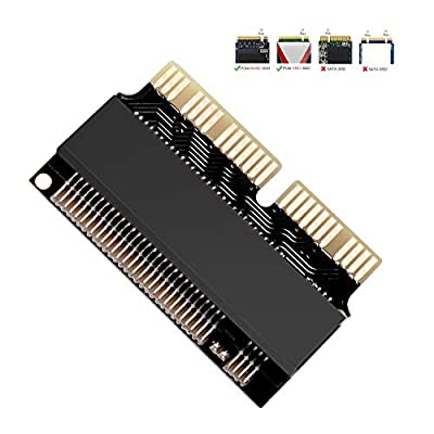 NGFF M.2 NVMe SSD Convert Adapter Card for Upgrade MacBook Air 2013 2014 2015 2016 2017 and Mac Pro Retina 2013 2014 2015, NVMe AHCI SSD Upgraded Kit for A1465 A1466 A1398 A1502
