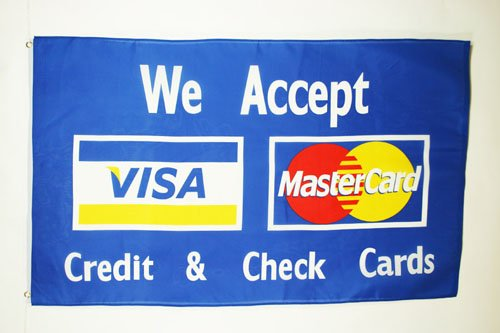AZ FLAG Visa Mastercard flagga 3 x 5 tum - kreditkort flaggor 90 x 150 cm - banderoll 3 x 5 fot