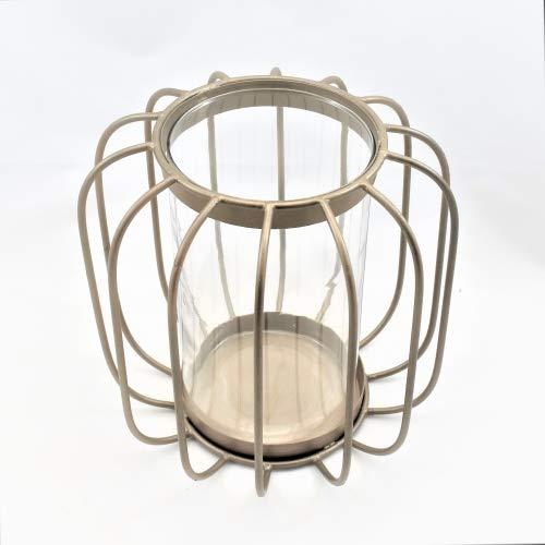 Colmore Laterne Windlicht Teelicht Metall Gold Matt 20 x 18 cm