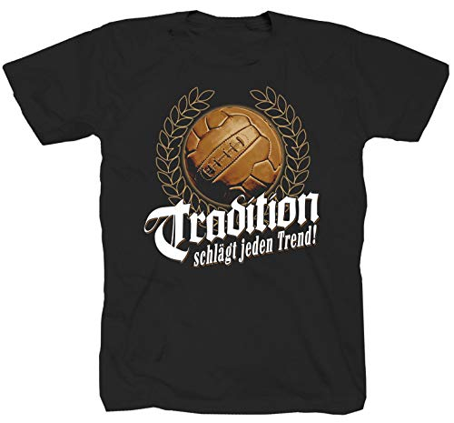 Fussball Tradition Ultras Fanatics schwarz T-Shirt (2XL)