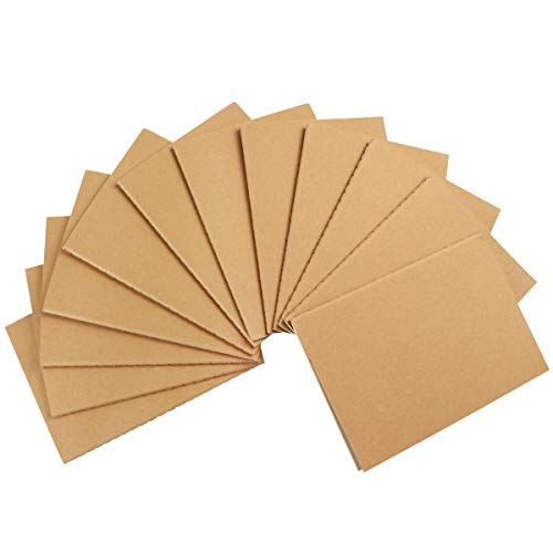 NUOLUX A6 Notizbücher, blanko, blanko, Kraftpapier, 12 Stück