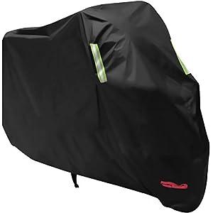 Funda-para-Moto-AngLink-210D-Oxford-265-x-125-x-105-cm-Funda-Protector-Cubierta-de-Moto-Impermeable-A-Prueba-de-UV-Agujeros-de-Bloqueo-con-Cubierta-Contra-Viento-Negro