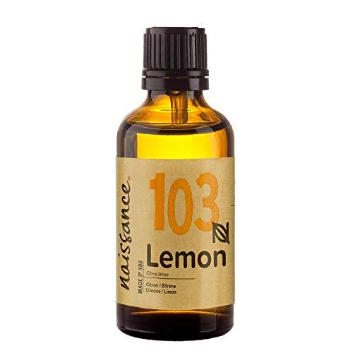 Naissance Huile Essentielle de Citron (n° 103) - 50ml - 100% Pure, Naturelle et distillée à la Vapeur – végan, Non testé sur Les Animaux
