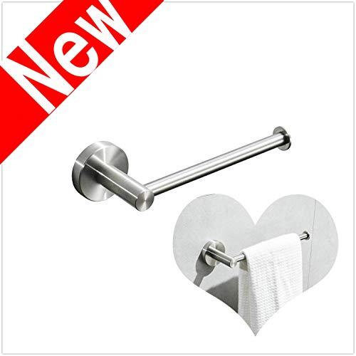 Leekayer Handtuchstange edelstahl, 20 cm Handtuchhalter für Badezimmer, zur Wandmontage, gebürstetes