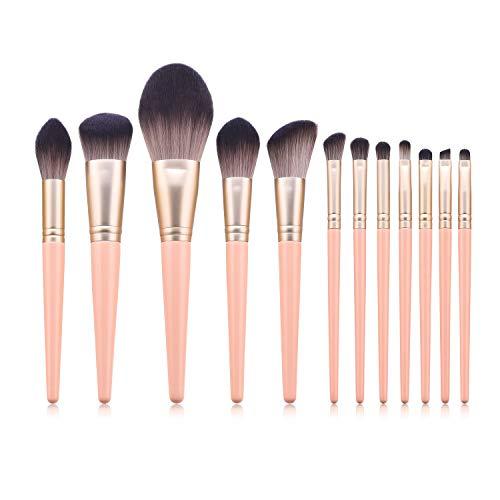 Facile à utiliser Qualité professionnelle cosmétiques 12 Pcs pinceaux de maquillage Set de beauté Outils de maquillage haut de gamme Poudre de polissage, les taches, Correcteur, de haute qualité synth