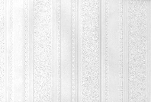 Striped Design Beadboard Paintable Wallpaper by Brewster