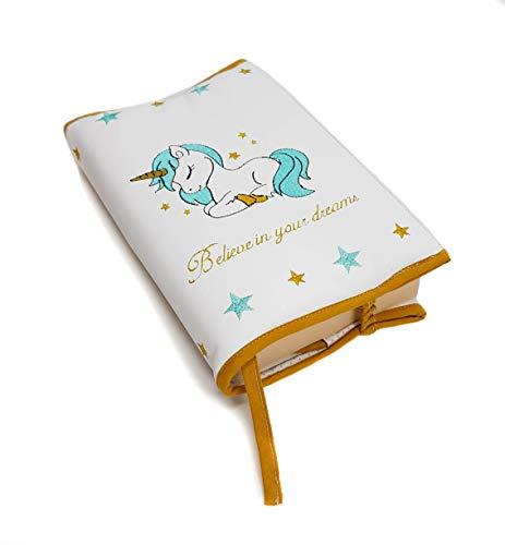Borda y más Funda Protectora para Libros y agendas. Varios Modelos y Colores Disponibles. (Unicorn Dreams)