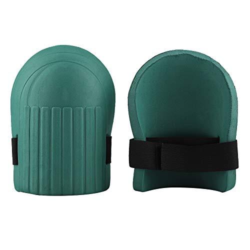 Genouillère de jardin de Delaman, équipement de protection de genou d'EVA pour le plancher de jardinage de construction (Couleur : Dark Green)
