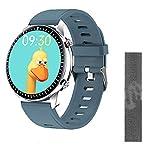Gymqian Nuevo I15 Smart Watch Reproductor de Música Mp3 1G Memoria con Monitor de Ritmo Cardíaco Presión Arterial Ip67 Rastreador de Fitness Impermeable Smartwatch, B Desgaste diari