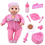 Toy Choi's Pretend Play Series Baby Pink Doll, Preschool Toy Gift for Kids Toddler Baby Children Boys and Girls