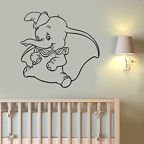 Elefante pegatinas de pared calcomanías de vinilo película de dibujos animados decoración de arte para la familia murales lindos